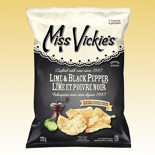 Miss Vickies Lime and Black Pepper
