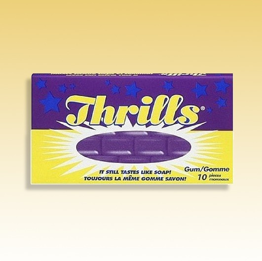 Thrills Gum by Wonka  Still tastes like Soap!