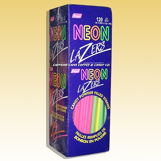 Neon - Candy Filled Powder Straws (Lazer)